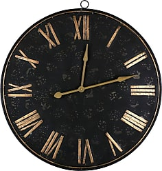 Art Maison Canada 38 in. Industrial Indoor VIII Iron Wall Clock - IMP7578