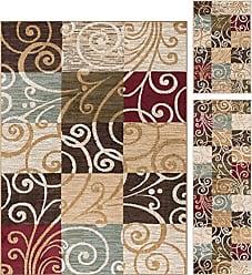 Tayse Carmen Transitional Geometric Multi-Color 3-Piece Area Rug Set, 3-Piece Set