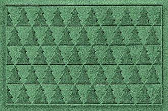 Bungalow Flooring AquaShield Pine Trees Mat, 2 x 3, Light Green