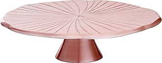 Old Dutch International Old Dutch 3442RG Rose Gold Lily Pad, 12.5 D. Cake Stand Serving, 12.5-Inch
