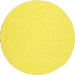Rhody Rug Fun Braids Solid Yellow 6 Round