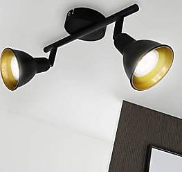 Spotk/öpfe dreh- und schwenkbar Briloner Leuchten Spotleuchte /Ø 30cm Schwarz 60 W 60W Deckenspot 3-flammig Metall max Retro//Vintage 3x E27