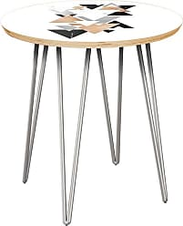 NyeKoncept Stella Marble & Gold Hairpin Side Table - 12003863