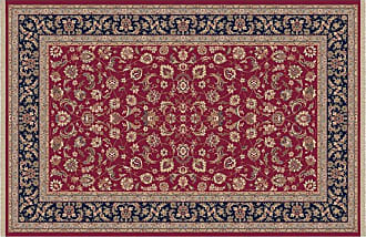 Dynamic Rugs Brilliant Collection Wool Hearth Rug-Red Frieze - BR2472284331
