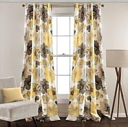 Lush Décor Leah Room Darkening Curtain Panel Pair (52 W X 95 L - Yellow)