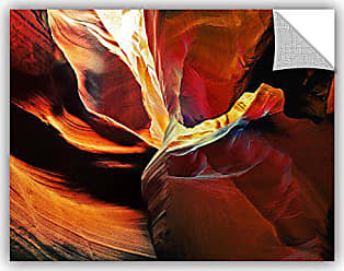 ArtWall Linda Parkers Slot Canyon Light from Above 2 Removable Wall Art, 36 x 48
