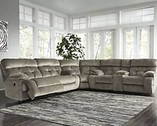 Ashley Furniture Brassville 3-Piece Reclining Sectional with Power, Graystone