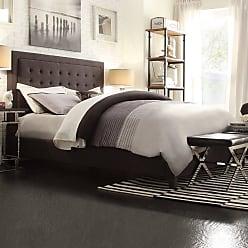 Weston Home Eston Upholstered Low Footboard Platform Bed Dark Gray, Size: Queen - E376BQ-1DGL[BED]315PL