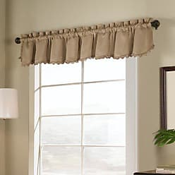 United Curtain Blackstone Blackout Loop Fringe Valance, 54 by 18-Inch, Gold