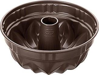 Dr Flach- und Rohrboden mit Antihaftbeschichtung runde Backform der Serie Back-Edition aus Stahl mit 2 B/öden Oetker Springform /Ø 26 cm Farbe: braun Menge: 1 St/ück
