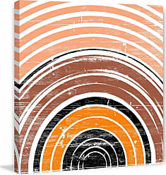 Marmont Hill Orange Rings Painting on Wrapped Canvas - MH-GEWDCU-656-C-18