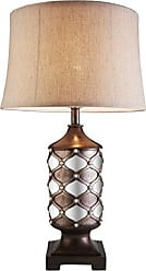 Ore International K-4278T Arabesque 29.5 H Mirror Table Lamp, Deep Espresso