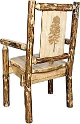Montana Woodworks Glacier Country Collection Captains Chair, Laser Engraved Pine Tree Design