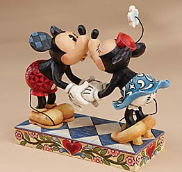 Enesco Disney Traditions by Jim Shore Mickey Mouse Kissing Minnie Stone Resin Figurine, 6.5