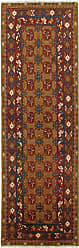 Nain Trading Oriental Afghan Akhche Baghlan Rug 80x26 Runner Brown/Rust (Wool, Afghanistan, Hand-Knotted)