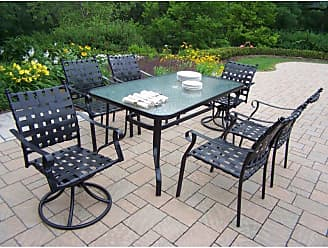 Oakland Living Outdoor Oakland Living Web Patio Dining Set - Seats 6 - 10188-S7-BK