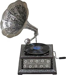 Urban Designs Antique Nickel Border Design Gramophone Phonograph