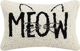 Peking Handicraft Meow Cat Hook, 8x12 Throw Pillow