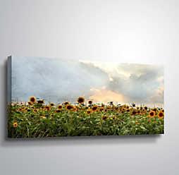 Brushstone Sunflower Field by Scott Medwetz Gallery Wrapped Canvas, Size: 12x24 - 0MED896A1224W