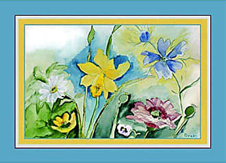 Betsy Drake PM194 Florals Place Mat, Set of 4