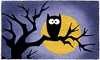 Geo Crafts Vinyl Back Halloween Owl Moon Doormat