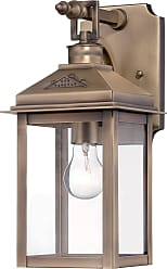 Minka Lavery The Great Outdoors Outdoor Lantern 1-Lite Wall Mount In Colonial Brass