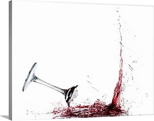 Great Big Canvas Falling Glass of Red Wine Canvas Wall Art - 1041409_24_24X18_NONE