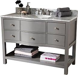 Baxton Studio Castie 48 in. Single Sink Bathroom Vanity - CASTIE-48-SLATE GREY