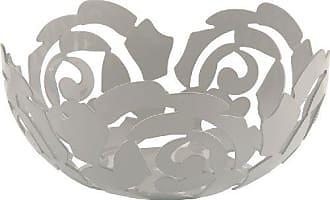 Alessi ESI15/29 WLa Rosa Fruit Bowl, Platinum White