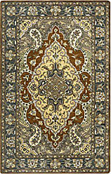 Rizzy Home Valintino Collection Wool Multi/Blue/Tan/Brown/Sage/Navy/Dark Taupe Border Area Rug 26 x 10