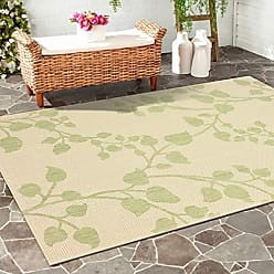 L.R. Resources Inc. LR Home SUNSH81243GRB5080 Sun Shower Indoor/Outdoor Area Rug, 5 x 8, Green/Beige
