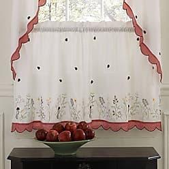 Sweet Home Collection Kitchen Window Tier, Swag, or Valance Curtain Treatment in Stylish and Unique Patterns and Designs for All Home Décor, 36, Ladybug Red