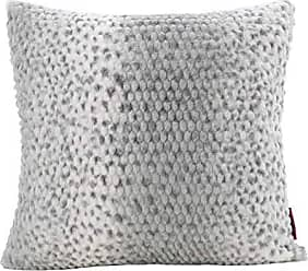 GDF Studio Christopher Knight Home Ellison Silver Dusk Decorative Faux Fur Fabric Throw Pillow | Ideal for The Living Room or Bedroom | Plush Texture