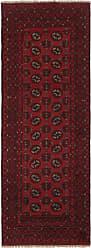 Nain Trading Handknotted Afghan Akhche Rug 77x27 Runner Dark Brown/Purple (Wool, Afghanistan)
