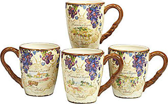 Certified International Vino Mug 20 oz., Set of 4 Assorted Designs
