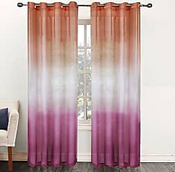 Sweet Home Collection Window Curtain Treatment Panel with Decorative Sheer Ombre Design, 52 x 84, Pink