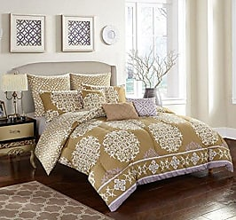 Idea Nuova stylehouse Bed in a Bag Comforter Set & Bonus Dec Pillows, Queen, Maya Rose
