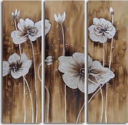 Omax Decor Muddied Floral March 3-Piece Canvas Wall Art Set - A 0026