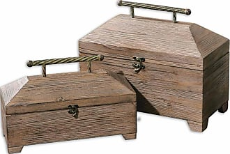 Uttermost Tadao Natural Wood Boxes - Set/2