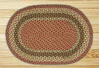 Earth Rugs 12-024 Rug, 20 x 48, Olive/Burgundy/Gray