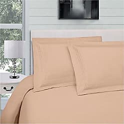 Home City Inc. Superior Infinity Embroidered Luxury Soft, Cooling 100% Brushed Microfiber Duvet Cover Set with Pillow Sham, Light Weight and Wrinkle Resistant - Twin/Twin XL Duvet Cover, Tan
