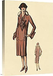 Bentley Global Arts Global Gallery Budget GCS-379231-22-142 Vintage Fashion Stunning in Red Gallery Wrap Giclee on Canvas Wall Art Print