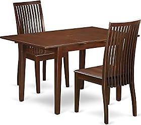 East West Furniture NOIP3-MAH-W Kitchen Set, Medium, Mahogany