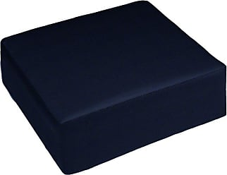 Cushion Source 24 x 23 in. Solid Sunbrella Ottoman Cushion Sapphire Blue - 5BB2M-5452