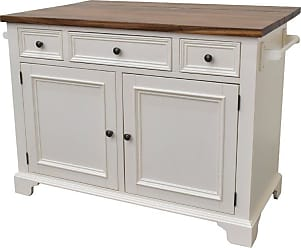 222 Fifth Hamilton 3 Drawer Kitchen Island with Drop Leaf Black - 7046BK755B1R55
