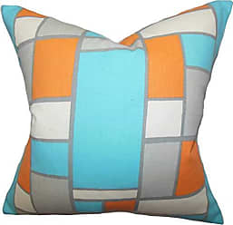 The Pillow Collection Bronwen Geometric Bedding Sham Blue Orange European/26 x 26