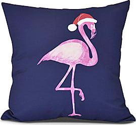E by Design E by design O5PHA983BL14-16 Snow Bird Decorative Animal Throw Outdoor Pillow, 16, Navy Blue