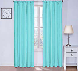 Ellery Homestyles ECLIPSE Blackout Curtains for Bedroom - Kendall 42 x 95 Insulated Darkening Single Panel Rod Pocket Window Treatment Living Room, Pool Blue
