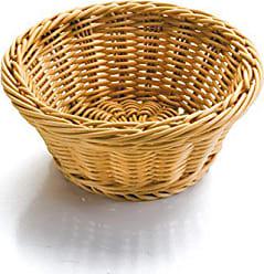 Zeller 27248 Brotkorb mit Beutel 22 x 22 x 10,8 cm Metall//Baumwolle beige