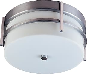 Maxim Lighting Luna LED 2-Light Outdoor Ceiling Mount in Brushed Metal w/White Glass